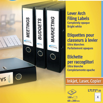 Avery File Spine Labels 25pk  large
