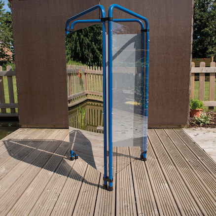 Outdoor Three Sided Mirror And Acrylic Easel  large