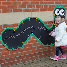Giant Mark Making Chalkboard Caterpillar  medium