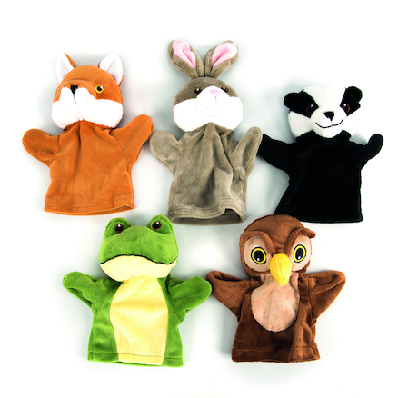 Role Play Wildlife Puppet Set 5pcs  large