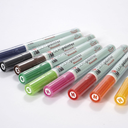 Marabu Glass Painter Markers Assorted Colours 9pk  large