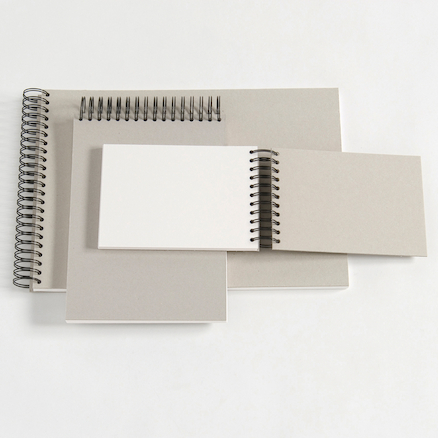 Jumbo Spiral White Card Sketchbooks 220gsm 80pgs  large