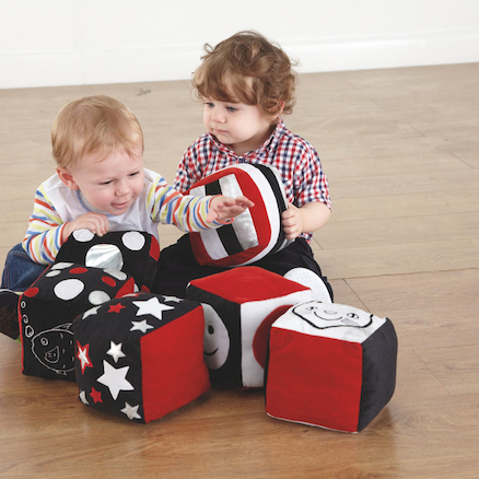 buy baby black and white soft cubes 6pk tts