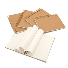 A5 Hardback Kraft Cover Spiral Sketchbook 140gsm  medium