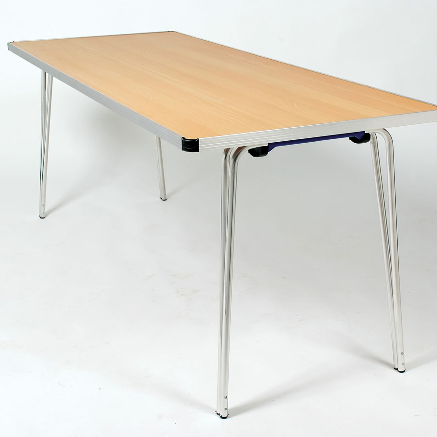 Buy gopak contour rectangular folding table w610mm tts for Table retractable