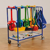 Outdoor Mobile Art Resources Storage Trolley  small