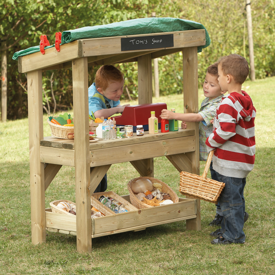 Buy Outdoor Wooden Role Play Shop Tts