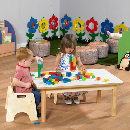 Rectangular Toddler Low Table H380mm  large