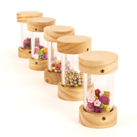 Wooden Shakers for Babies 6pk  large
