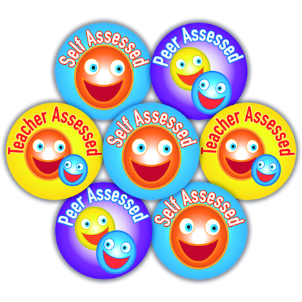 Self/Peer/Teacher Assessed Stickers 125pk  large