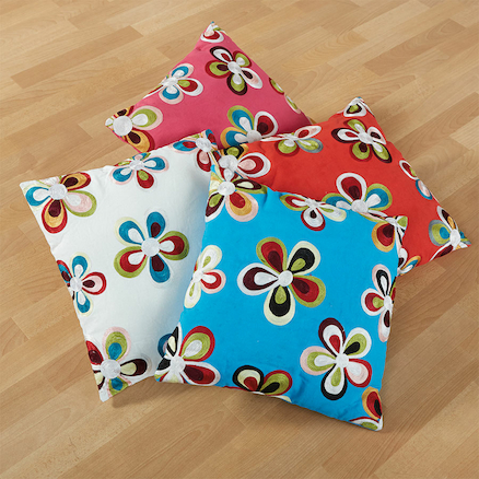 Colourful Embroidered Cushions 40 x 40cm 4pk  large