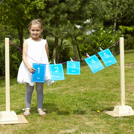 Large Washing Line with Pegs  large