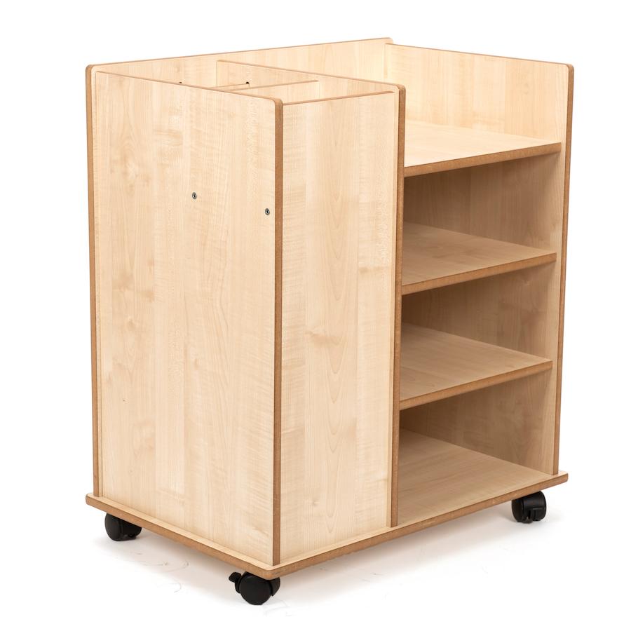 Buy poster paper wooden storage unit tts