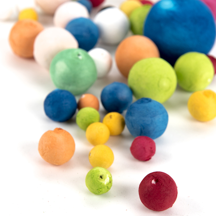 Assorted Coloured Paper Balls 50pk  large