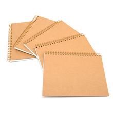 A4 Hardback Kraft Cover Spiral Sketchbook 140gsm  medium