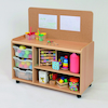 Tray Storage Unit With Cork Display Board  small