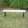 Outdoor Wooden Backless Bench  small