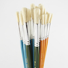 Assorted Round Short Hog Hair Paint Brushes 30pk  small