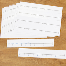 Double Sided Desk Top Number Line  medium