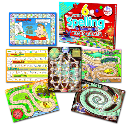 6 Spelling Board Games - Level 3  large
