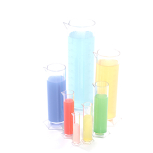 Plastic Graduated Cylinders Set 7pcs  medium