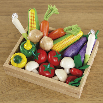 Wooden Role Play Fruit and Vegetable Set  large