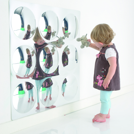Sensory Bubble Mirror with No Frame  large