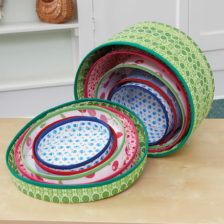 Stacking and Nesting Fabric Storage Boxes  large