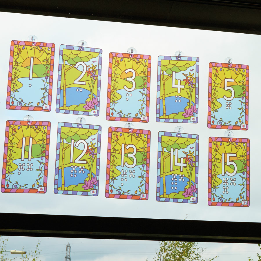Buy stained glass window number panels pvc 1 20 tts for Window number