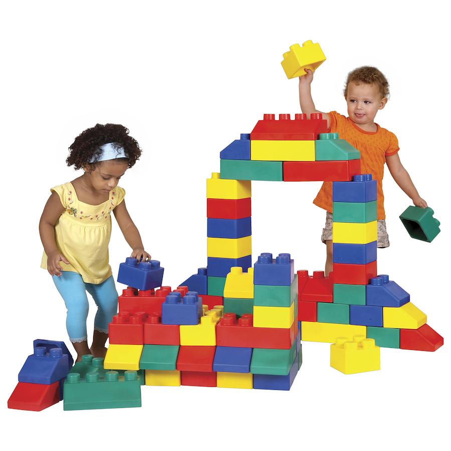 Buy Jumbo Flexible Building Blocks 84pk | TTS