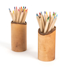 Wooden Pencil Pots and Pencils set 2pk  small