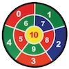 Number Dartboards Adhesive Balls and Targets 3pk  small