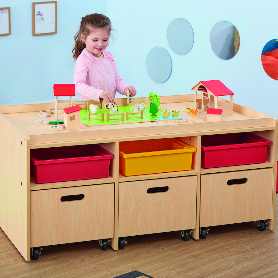 Buy Natural Wooden Early Years Play Table