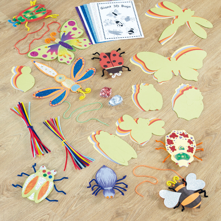 Giant 3D Paper Bugs 36pk  large