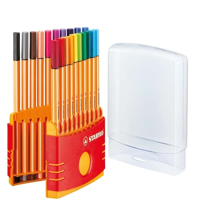 Stabilo® Point 88 Fineliner Pens and Case 20pk  large