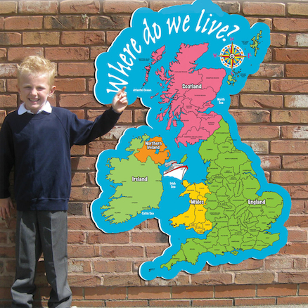 UK Playground Map Sign  large
