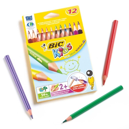 BIC Triangular Colouring Pencils Assorted 12pk  large