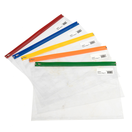 Snopake Clear Zip Bags  large