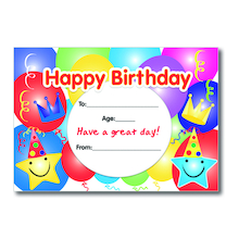 A5 Birthday Certificates 40pk  medium