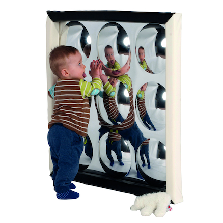 Black and White Soft Frame Bubble Mirror 150cm  large