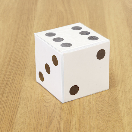 PVC Dice with Card Insert Pockets  large