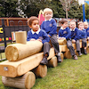 Early Years Outdoor Wooden Train  small