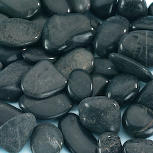 Moonstone Black Pebbles 1kg  medium