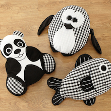 Baby Black and White Animal Cushions  medium