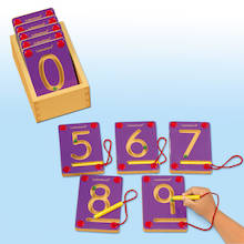 Wooden Magnetic Learning Numbers 0-9  medium