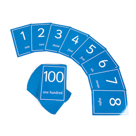 Laminated Number Cards 1-100  large