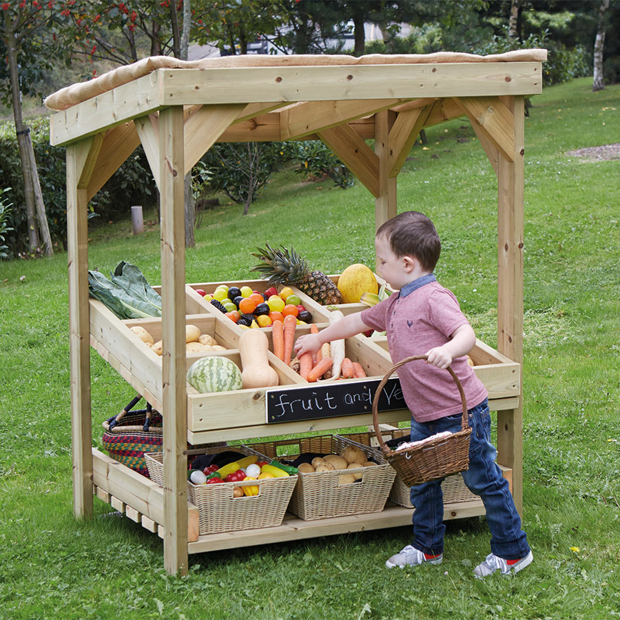 Buy Outdoor Wooden Role Play Market Stall Unit Tts