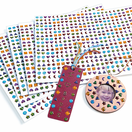 Assorted 3D Gem Craft Stickers 2150pk  large