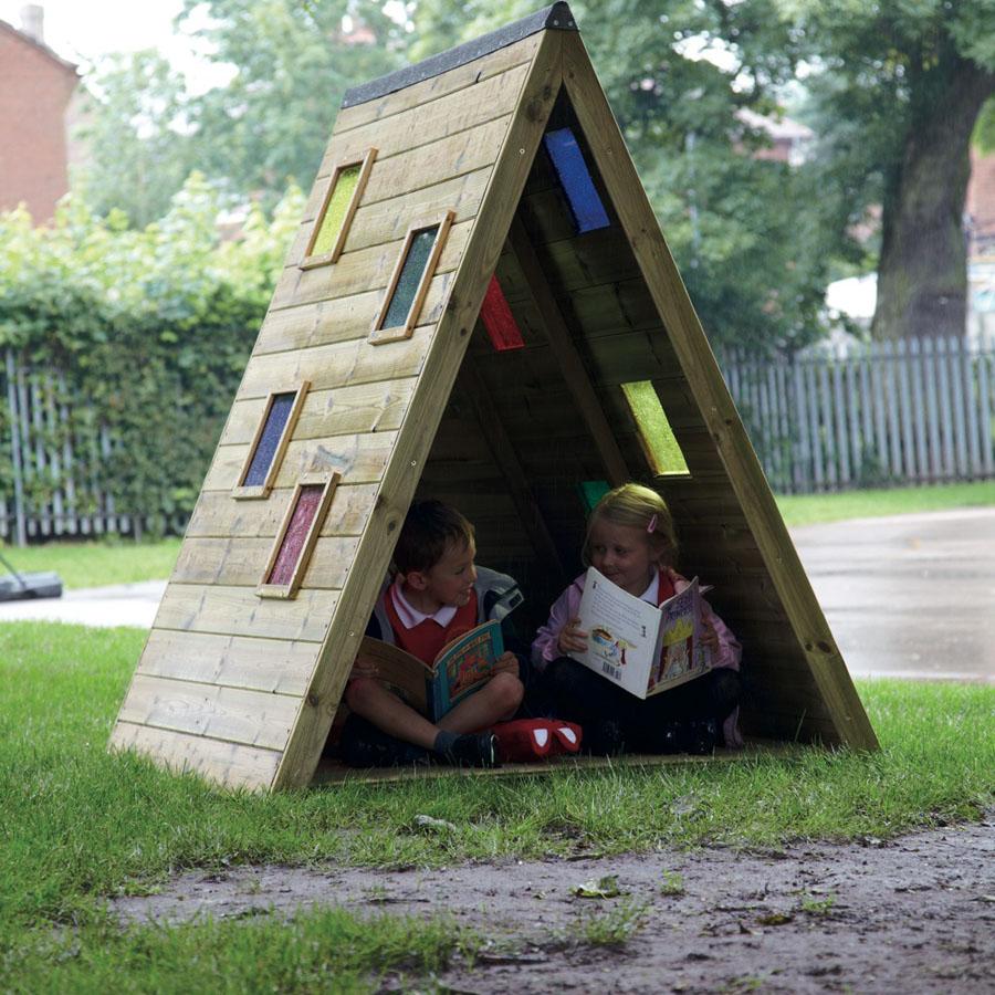 Buy outdoor triangular rainbow den tts