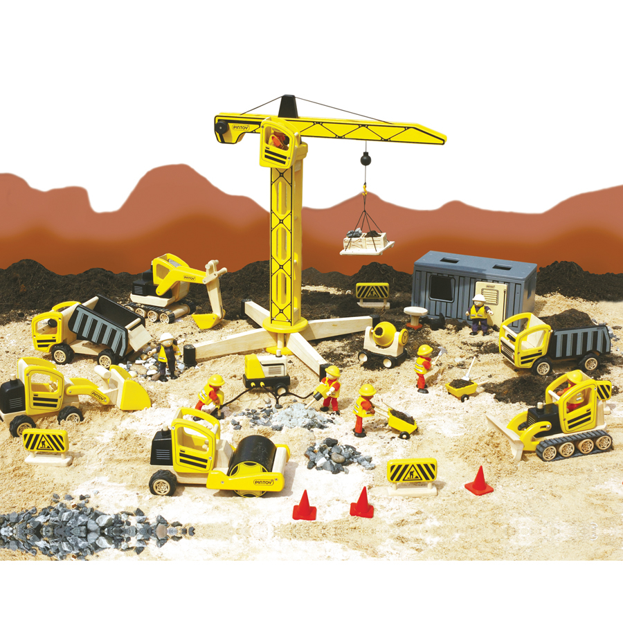 Buy Small World Wooden Construction Site Set